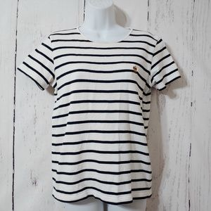 Lauren Ralph Lauren Blue/White Striped Top